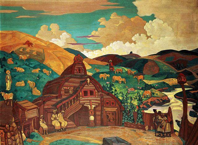 Н.К. Рерих. Три радости. 1916